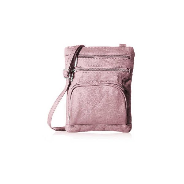 Super Soft Leather Crossbody Bag-Pink-Daily Steals