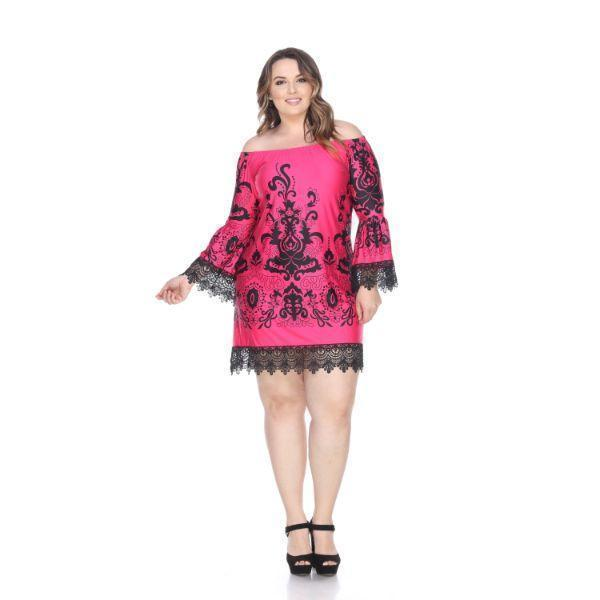Daily Steals-Plus Size 'Uniss' Dress-Women's Apparel-Fuchsia-XL-