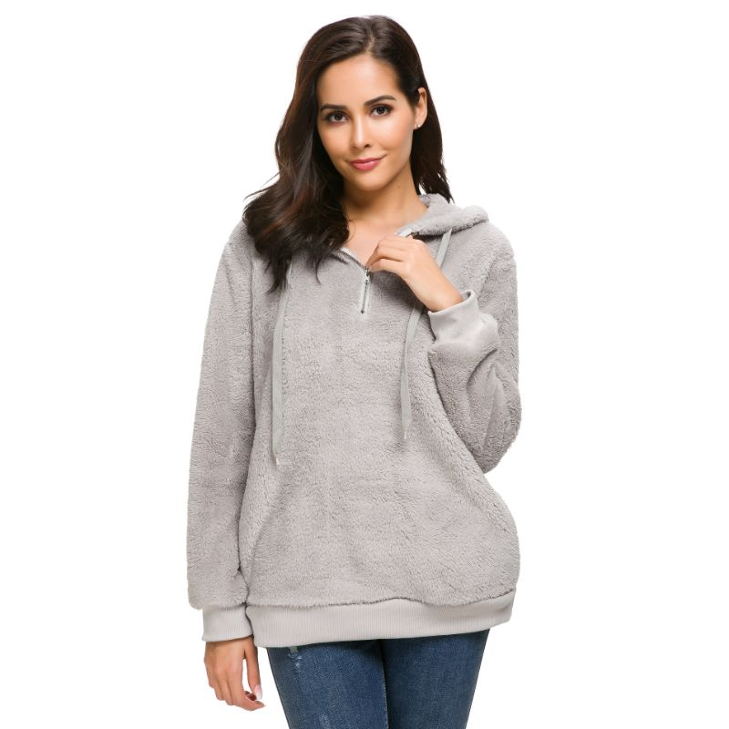 Plush Pullover Hoodie-Daily Steals