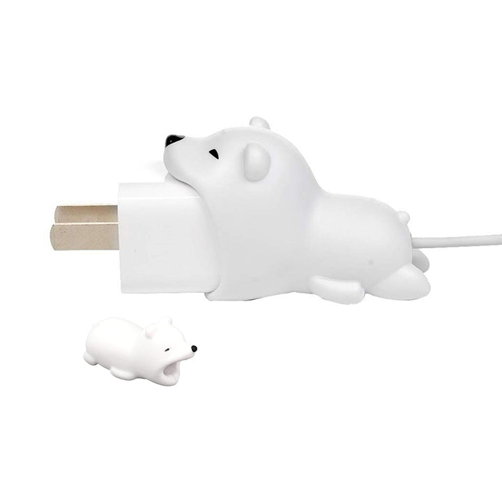 Daily Steals-iPhone Animal Biters for USB Adapter and Cable Protectors - 2 Pack-Cell and Tablet Accessories-Polar Bear-