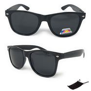 Unisex Classic Black Polarized Sunglasses - Pouch Included-Daily Steals