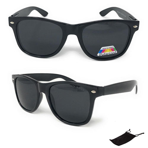 1190fae0dbe4 Daily Steals-Unisex Classic Black Polarized Sunglasses - Pouch Included- Accessories-