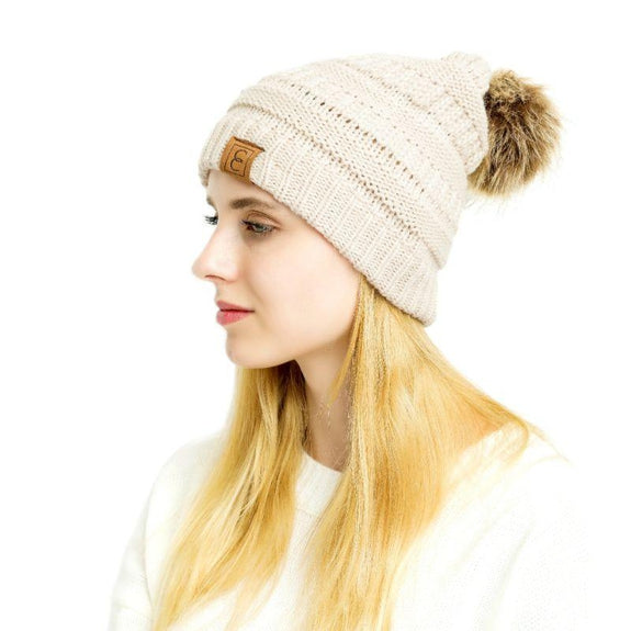 Popular CC Chic Pom Pom Beanie-Daily Steals