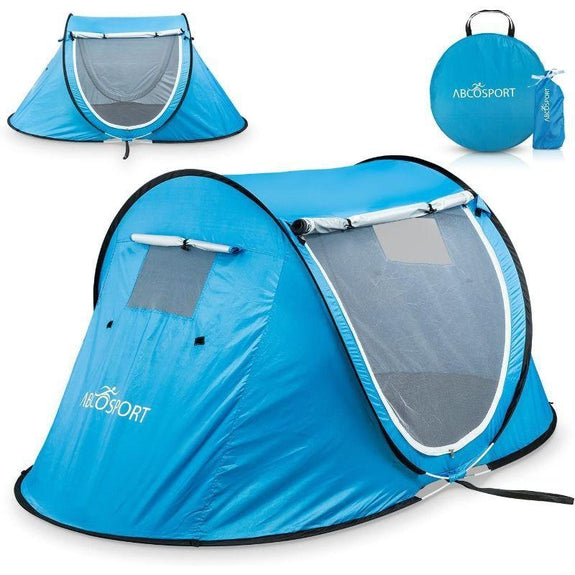 Pop Up Automatic Instant Portable Cabana Beach Tent Fits 2 People-