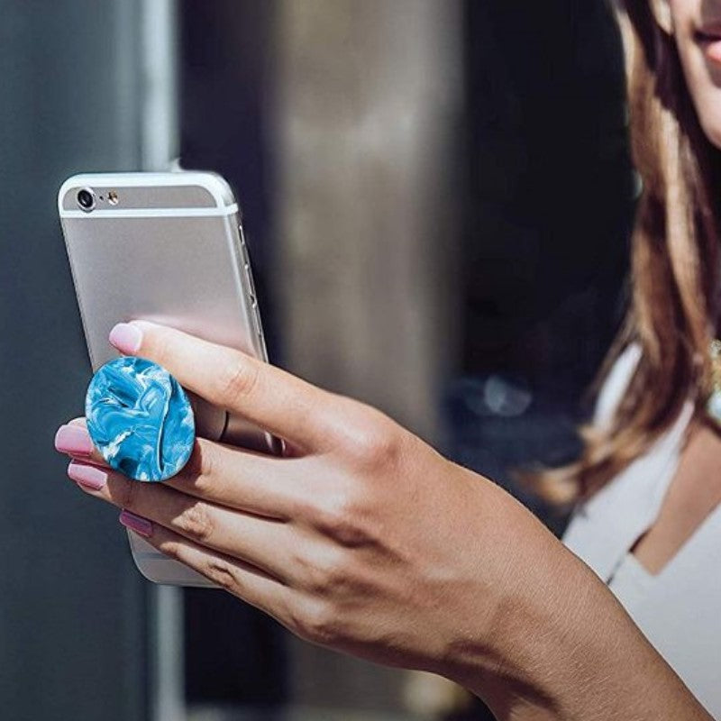 PopSockets: Collapsible Grip & Stand for Phones and Tablets - Blue-Daily Steals