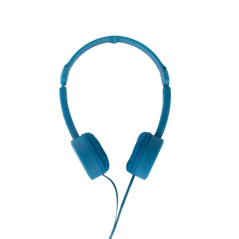 POP TONE Comfort Headphones with Tangle-Free Flat Wires-Blue-Daily Steals