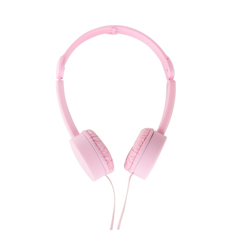 POP TONE Comfort Headphones with Tangle-Free Flat Wires-Pink-Daily Steals