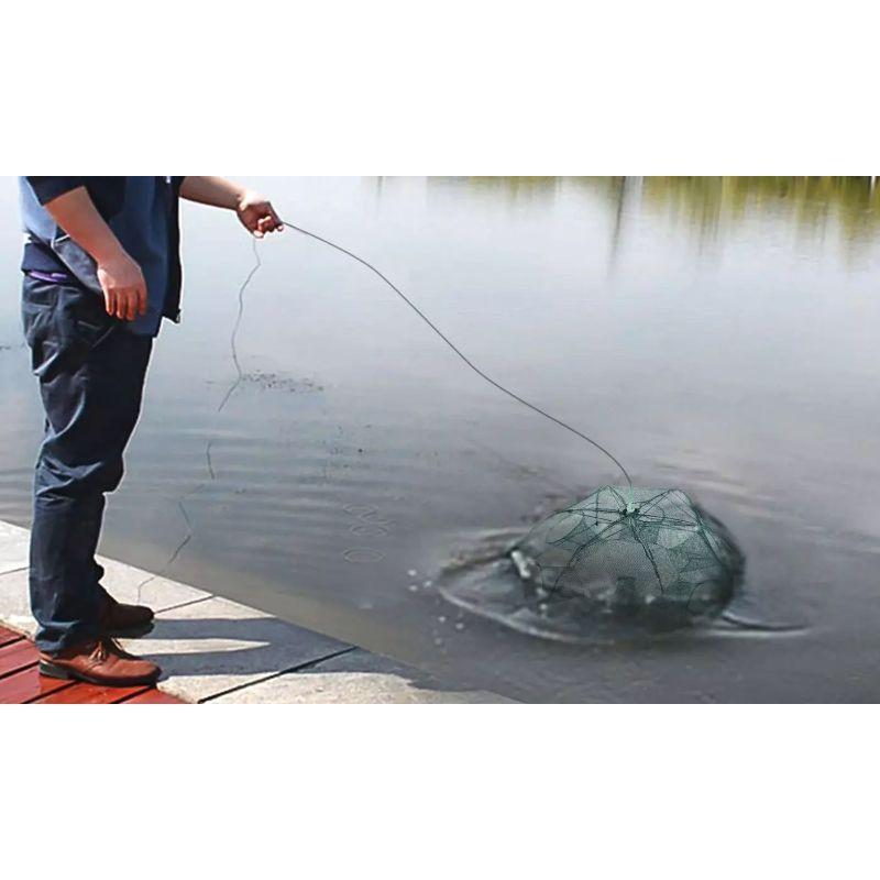 Portable Folding Hexagon Fishing Trap Net-