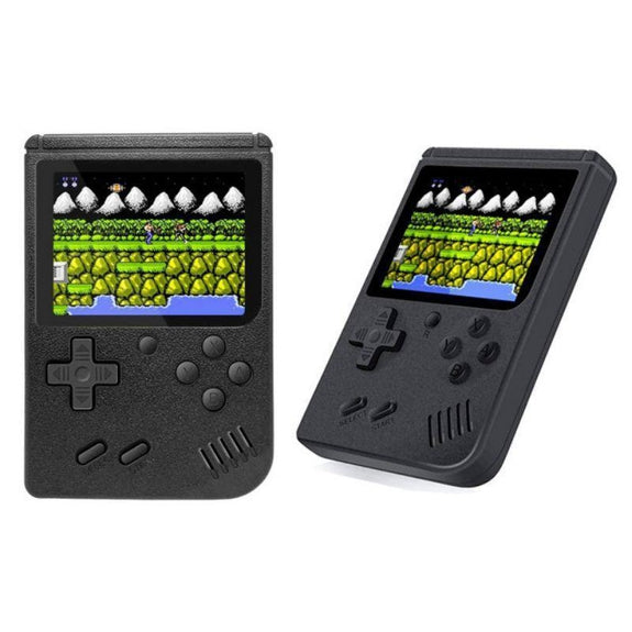 Portable Game Console with 400 Classic Games-Black-