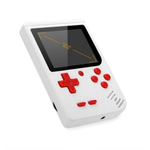 Portable Game Console with 400 Classic Games-White-