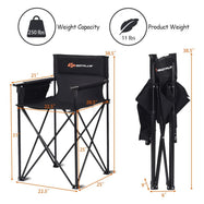"Portable 38"" Oversized High Camping Fishing Folding Chair-Daily Steals"