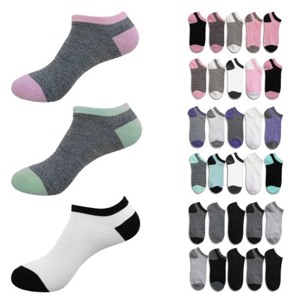 20-Pairs B.U.M. Women's Fashion No Show Low Cut Fun Ankle Socks-Daily Steals