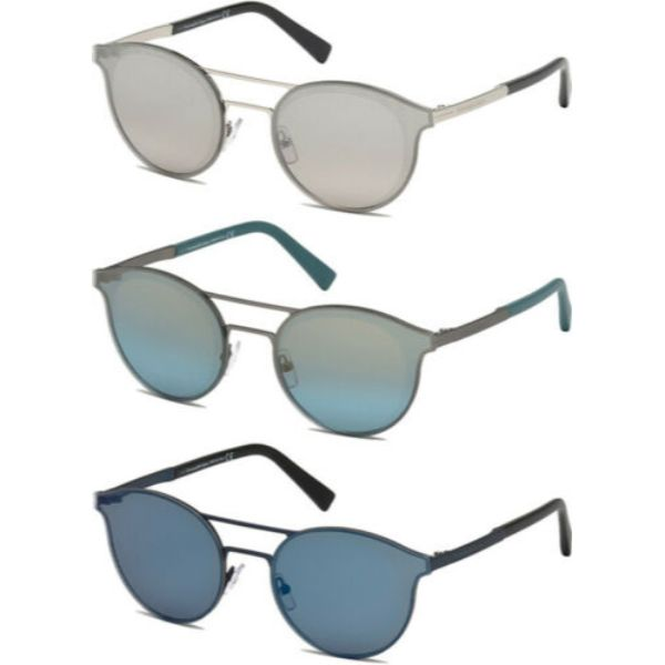 Ermenegildo Zegna Men's Brow Bar Pilot Sunglasses w/ Mirror Lens-Daily Steals
