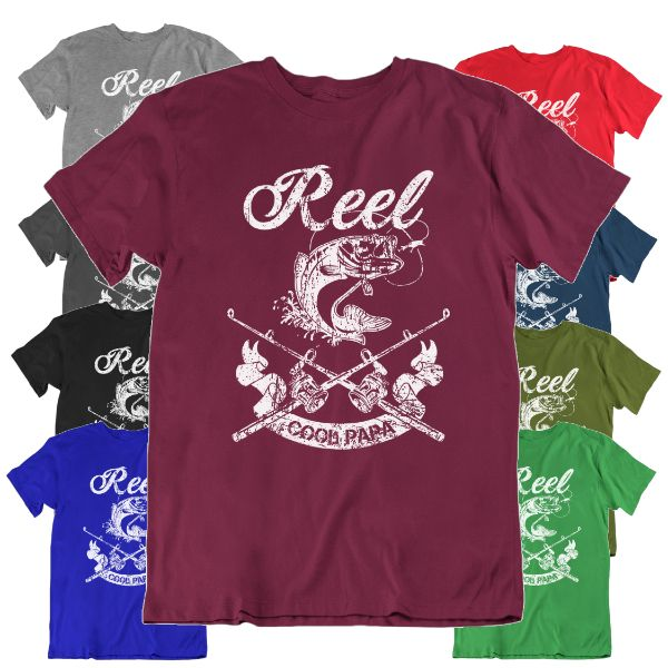 Reel Cool Papa' Funny Fishing T Shirt-Daily Steals