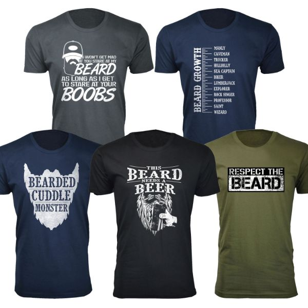 Daily Steals-Men's 'Awesome Beard' T-shirts-Men's Apparel-This Beard Needs A Beer - Black-S-