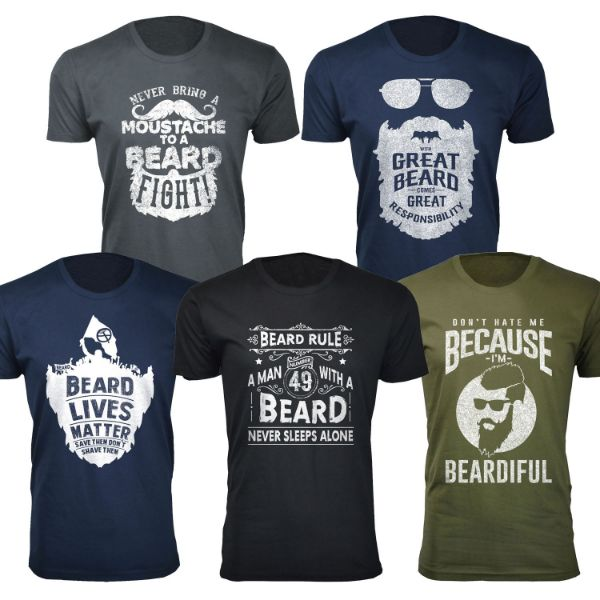 Men's 'Greatest Beard' T-shirts-Daily Steals