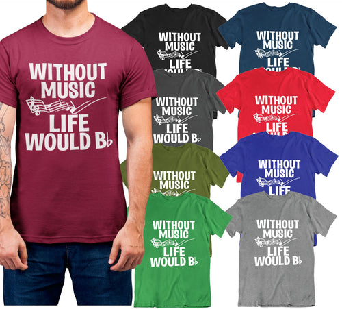 f799dc904 Daily Steals-Without Music Life Would Be Flat T Shirt-Men's Apparel-Black