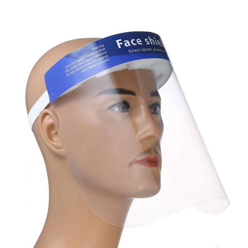 PPE Full Face Shield and Splash Protection for Medical and Chemical Safety - 10 Pack-