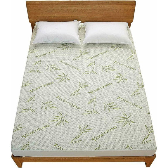 Premium Bamboo Waterproof Fitted Mattress Protector-Green-Full-Daily Steals