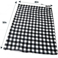 Premium Quality 12V Electric Black and White Plaid Travel Blanket-Daily Steals
