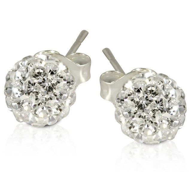 2 CT Crystal Ball Studs - Variety of Colors-White-Daily Steals