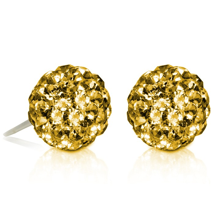 2 CT Crystal Ball Studs - Variety of Colors-Champagne-Daily Steals
