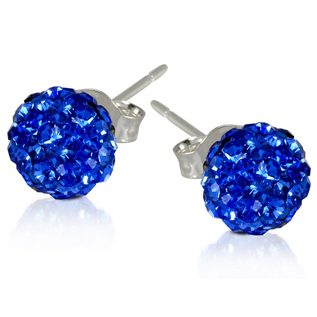 2 CT Crystal Ball Studs - Variety of Colors-Sapphire-Daily Steals