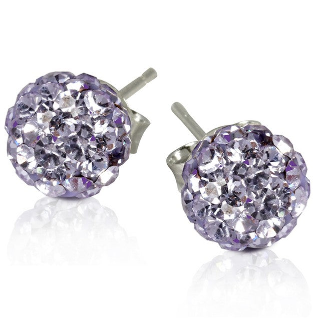 2 CT Crystal Ball Studs - Variety of Colors-Violet-Daily Steals