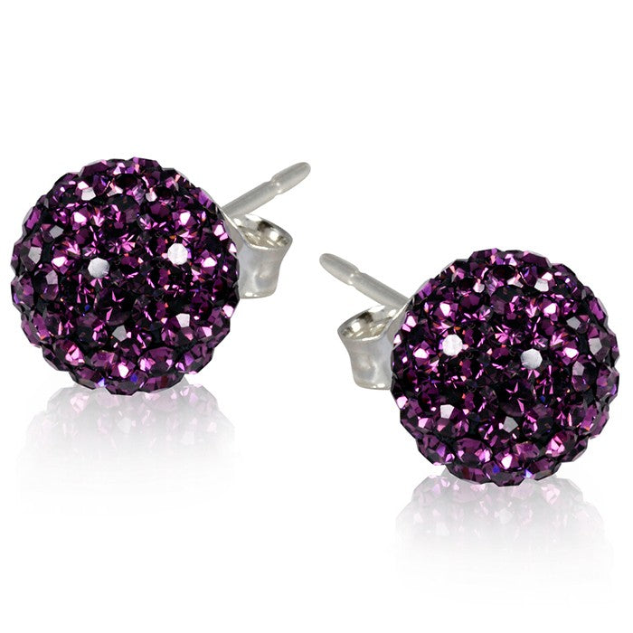2 CT Crystal Ball Studs - Variety of Colors-Daily Steals