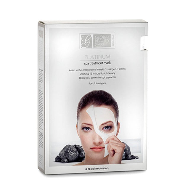 [5-Pack] Global Beauty Care Premium Platinum Spa Treatment Mask-Daily Steals