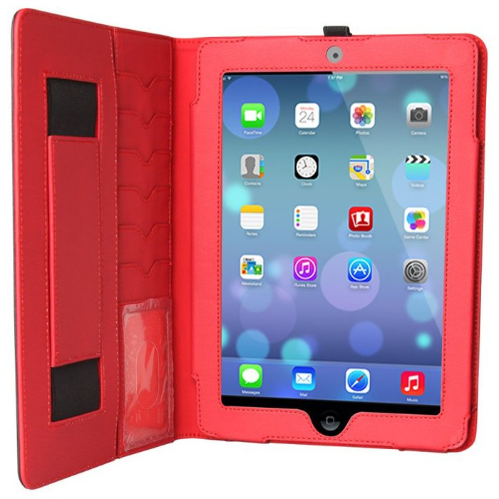 SmartBlazer Exec Case for iPad Air/ Air 2-Black/Red-Daily Steals