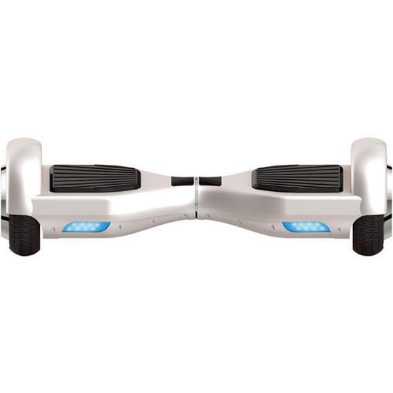 Daily Steals-Self Balancing Horizontal Electric Scooter with Front LED Lights-White-