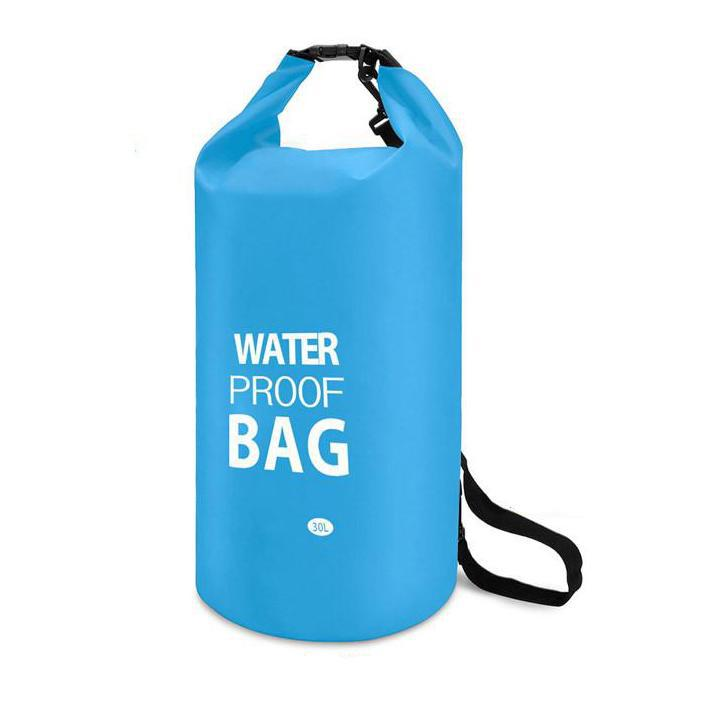 Waterproof 10-Liter Dry Bag with Shoulder Strap-Blue-Daily Steals