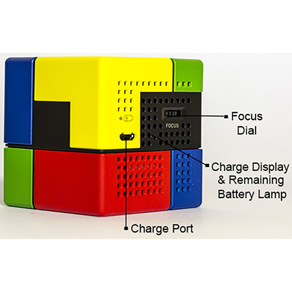 Daily Steals-Duo Play (45 cm) Mini Projector 90 inch Screen Size MHL/HDML - Multi Colored-Cell and Tablet Accessories-