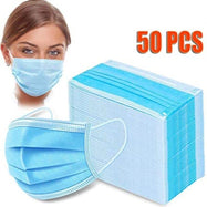 Protective Equipment - 50 Pack Face Masks, 1 120 ml Hand Sanitizer and 10 Refillable Bottles-