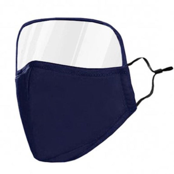 Protective Face Mask with Eye Shield - 6 Colors-Blue-