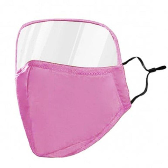 Protective Face Mask with Eye Shield - 6 Colors-Pink-