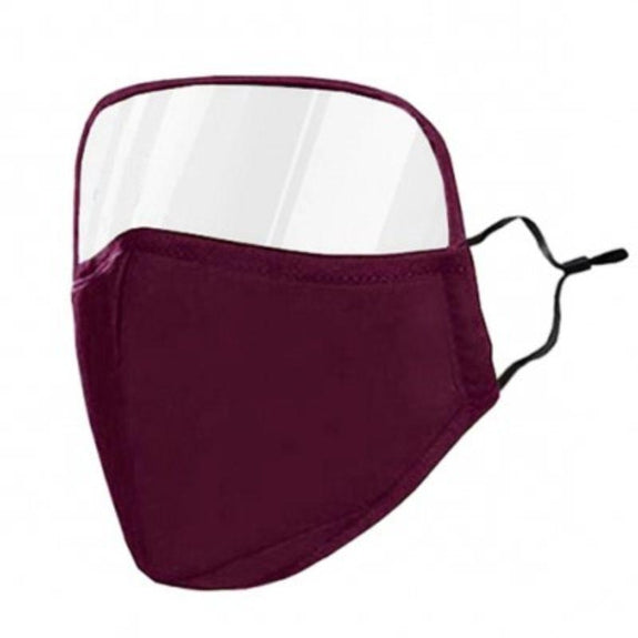 Protective Face Mask with Eye Shield - 6 Colors-Purple-