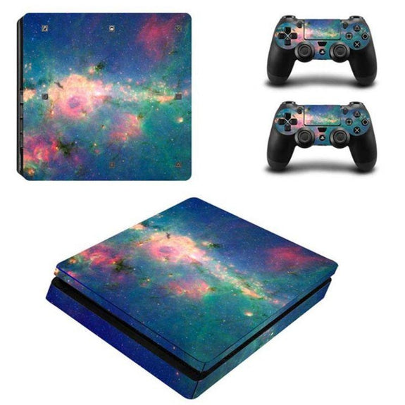 PS4 Slim Console Protective Skins-Galaxy-