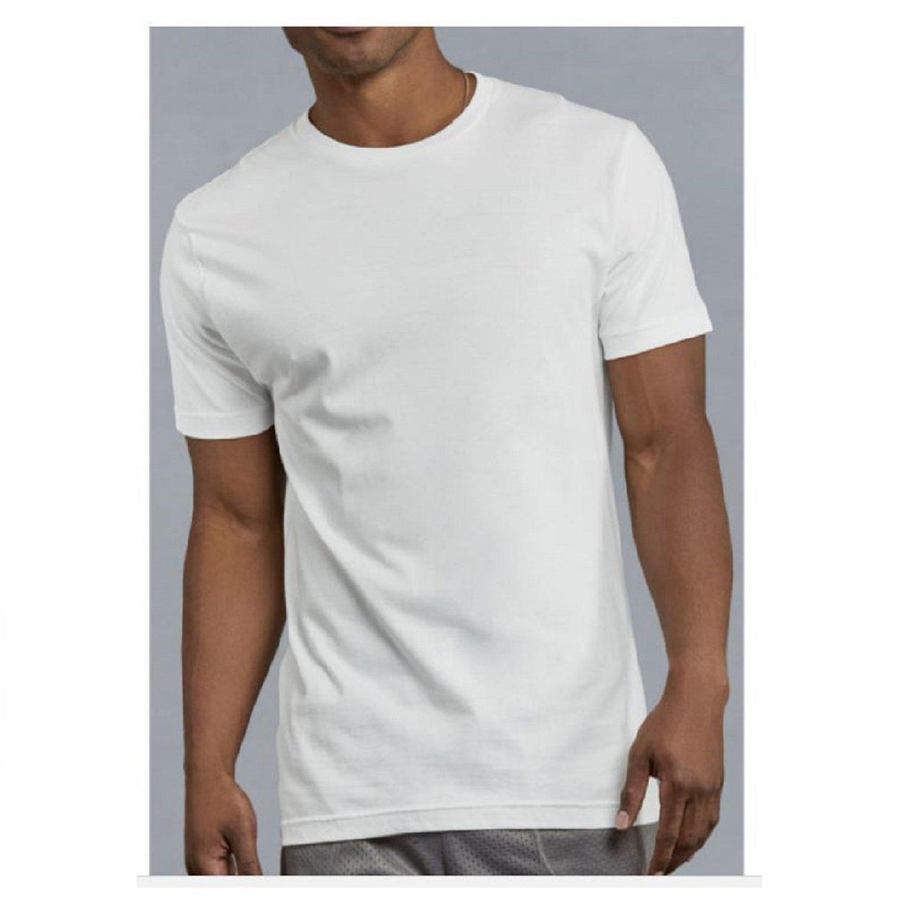 Knocker Men's Cotton Plain White T-Shirts - 3 Pack