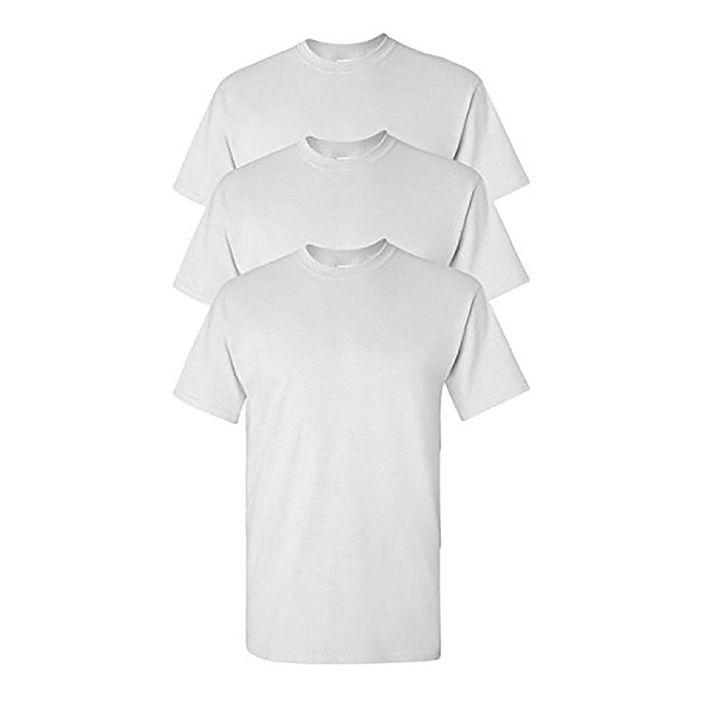 Knocker Men's Cotton Plain White T-Shirts - 3 Pack-S-3 pack-Daily Steals