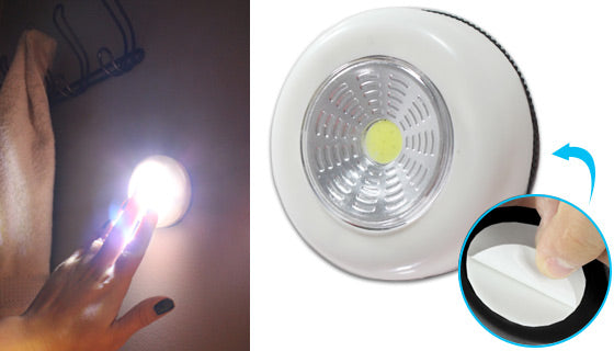 Battery-Operated Easy-Push Bright Puck Lights - 3 Pack-Daily Steals