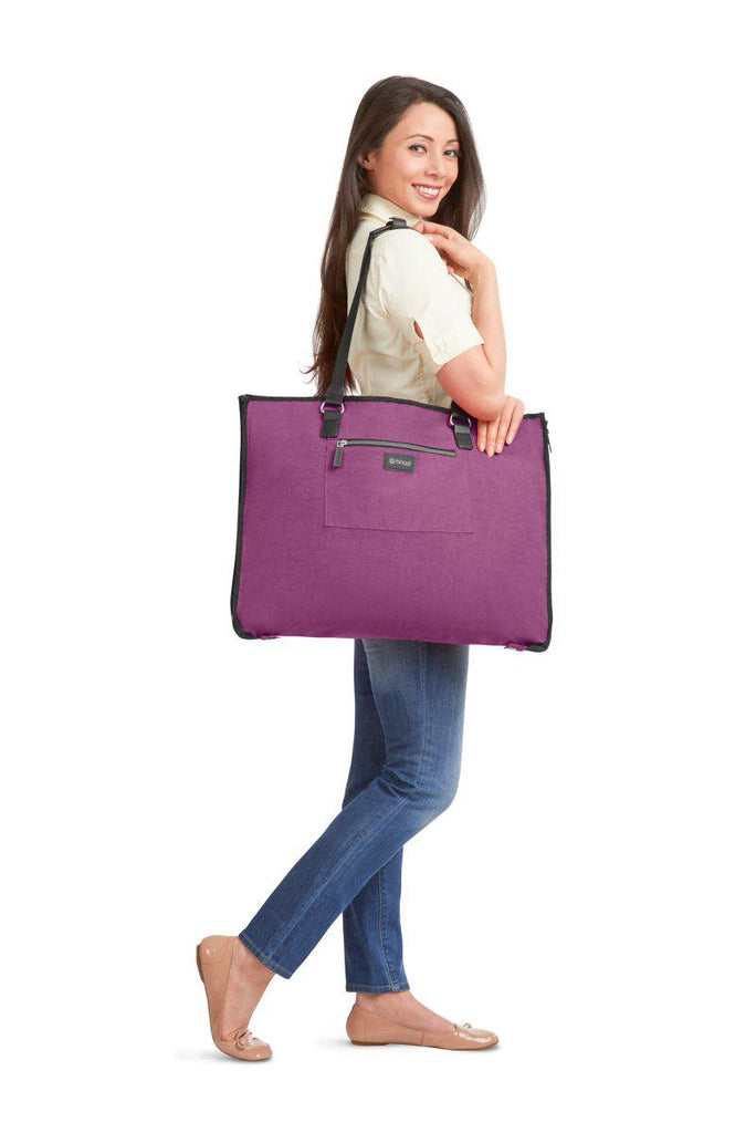 Biaggi Luggage Hangeroo Two-In-One Garment Bag + Tote-Purple-Daily Steals