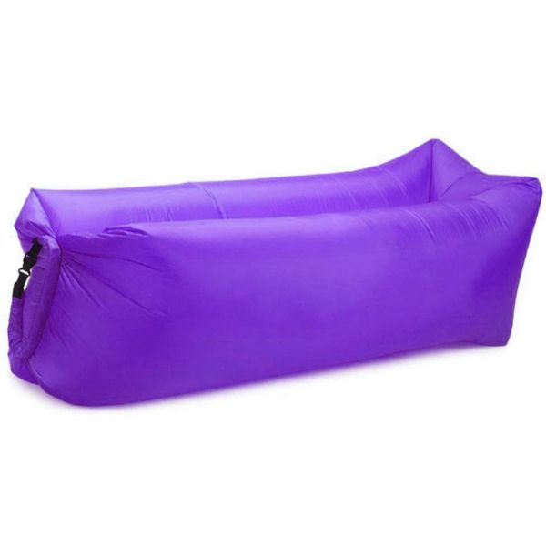update alt-text with template Daily Steals-Air Lounger Inflatable Portable Air Bed for Indoor and Outdoor with Carry Bag-Outdoors and Tactical-Purple-250 x 75 cm-