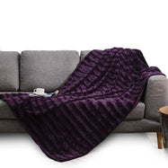 Ultra Cozy Faux Fur Microplush Reversible Throw Blanket-Daily Steals