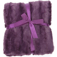Ultra Cozy Faux Fur Microplush Reversible Throw Blanket-60x50 - Purple-Daily Steals