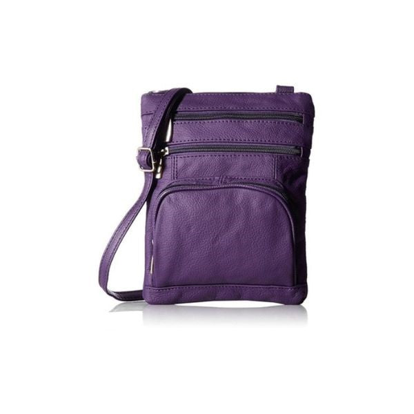 Super Soft Leather Crossbody Bag-Purple-Daily Steals