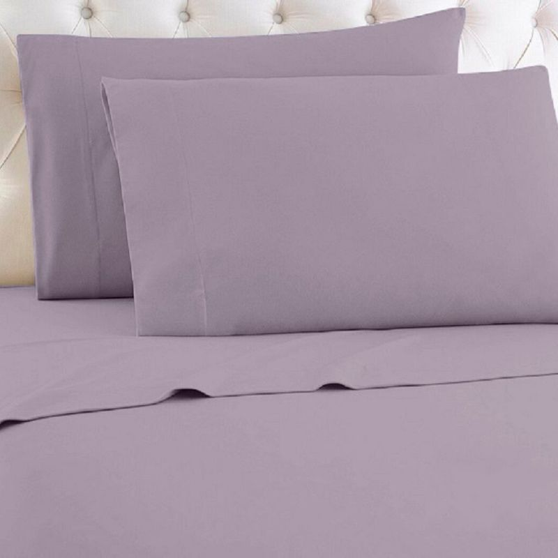 [4-Piece] Luxurious 1,000 Thread Count Egyptian Cotton Sheet Sets-Purple-Queen-Daily Steals