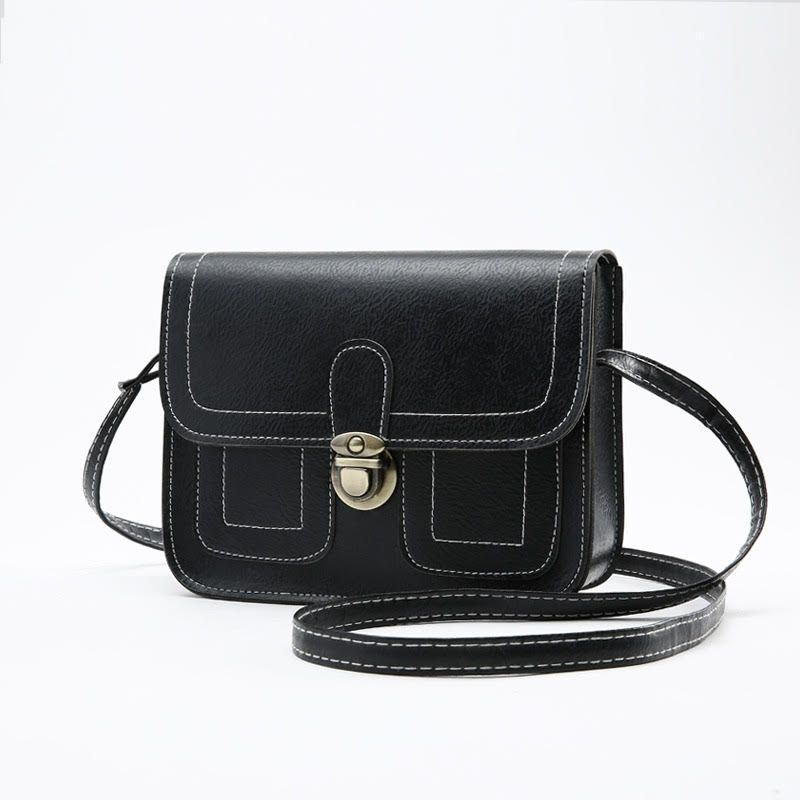 Push Button Shoulder Bag-Black-Daily Steals