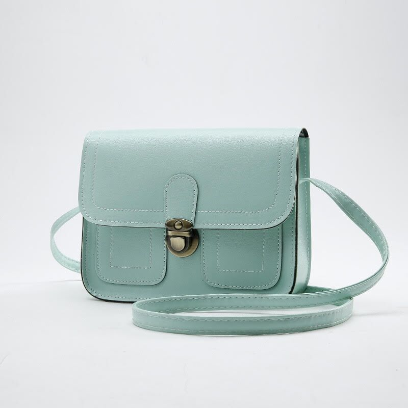 Push Button Shoulder Bag-Blue-Daily Steals